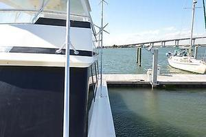 57' Viking Convertible 1990 Port View Looking Aft from Bow