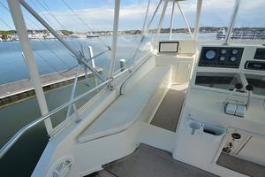 57' Viking Convertible 1990 Port Helm Station / Bench Seating