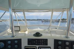 57' Viking Convertible 1990 Helm Looking Forward