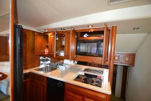 57' Viking Convertible 1990 Galley View #3