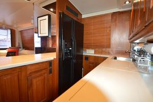 57' Viking Convertible 1990 Galley