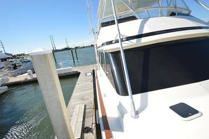 57' Viking Convertible 1990 Starboard View Looking Aft from Bow