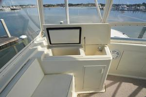 57' Viking Convertible 1990 Ice / Drink Box Port Helm Deck Forward