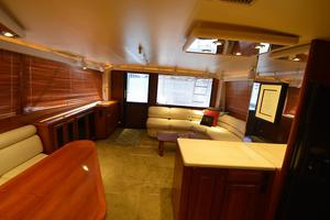 57' Viking Convertible 1990 Looking Aft from top of Stairs