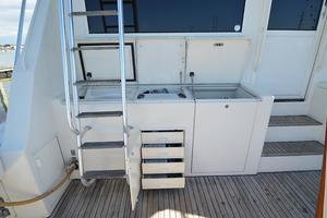 57' Viking Convertible 1990 Port Cockpit Bulkhead Tackle Storage
