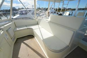 57' Viking Convertible 1990 Helm Deck Seating Forward of Helm Station