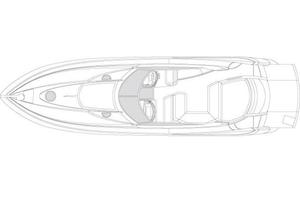 55' Sunseeker Predator 55 2005 Manufacturer Provided Image: Deck Layout