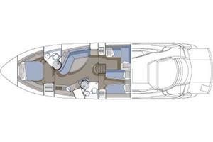 55' Sunseeker Predator 55 2005 Manufacturer Provided Image: Accommodation Layout