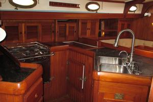 43' Hans Christian Traditional 1985 Sea Going galley that is a chef's delight