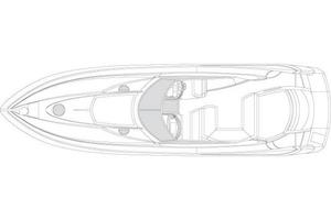 53' Sunseeker Portofino 53 2005 Manufacturer Provided Image: Deck Layout