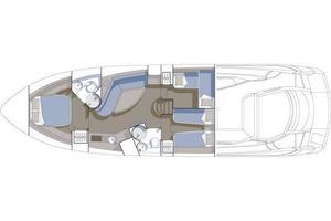 53' Sunseeker Portofino 53 2005 Manufacturer Provided Image: Accommodation Layout