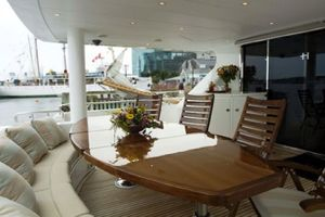 114' Hargrave Raised Pilothouse 2009 Aft Deck