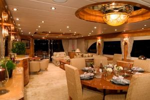 114' Hargrave Raised Pilothouse 2009 Dining Area and Salon