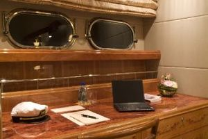 114' Hargrave Raised Pilothouse 2009 Master Stateroom custom desk