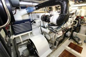 70' Marlow Explorer 70E 2004 Engine Room Port with 20 kW