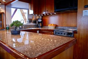 55' American Marine Alaskan 1972 Galley custom counters