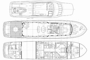 100' Hatteras 100 Motor Yacht 2001 Layout