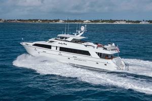 100' Hatteras 100 Motor Yacht 2001 Running Port Side Aft