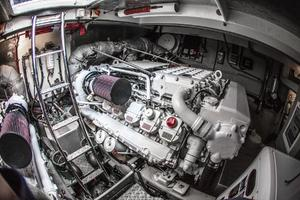 62' Sunseeker Predator 62 2008 Engine Room