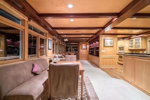 79' AC Mcleod Custom Sternwheeler House Barge 1982 Dining & Living Rooms