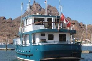 58' Custom North Sea Trawler 1996 Stern
