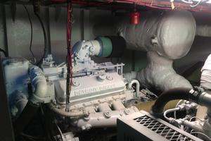 64' Custom Triple Deck Dinner River Boat 1996 Engine Room