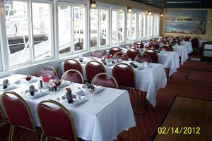 64' Custom Triple Deck Dinner River Boat 1996 Dining Room
