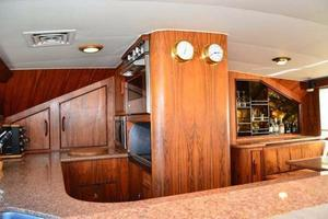 73' Buddy Davis Sport Fishing Motor Yacht 1982 Galley