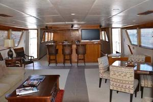 106' Broward Raised Pilothouse 1982 Salon Looking Forward