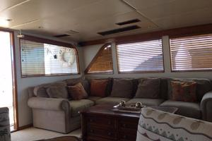 106' Broward Raised Pilothouse 1982 Salon Settee