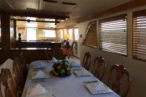 106' Broward Raised Pilothouse 1982 Dining Area