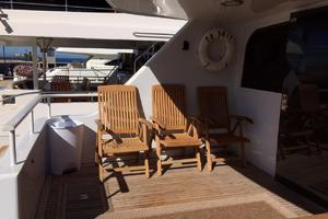 106' Broward Raised Pilothouse 1982 Aft Deck