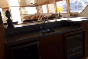 106' Broward Raised Pilothouse 1982 Bar Looking Aft
