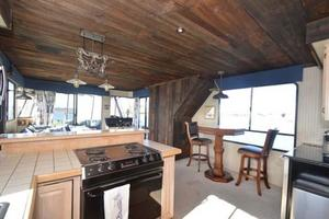 65' Sumerset Houseboat 1993 Bow Facing Galley & Salon