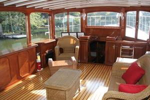 75' Custom 75 Commuter Yacht 1928 Salon Forward