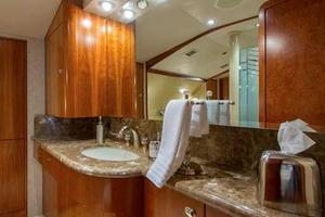 130' Westport Tri-Deck 2003 Master Stateroom Ensuite Head