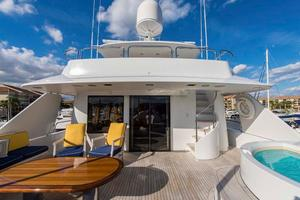 130' Westport Tri-Deck 2003 Sky Lounge Aft Deck
