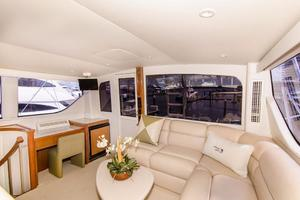 65' Viking Enclosed Bridge 2001 Main Salon Aft
