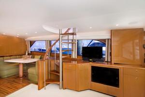 65' Viking Enclosed Bridge 2001 Salon Entertainment