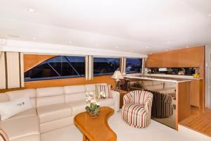 65' Viking Enclosed Bridge 2001 Salon Settee