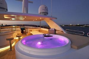97' Horizon 97 Motoryacht with Raised Pilothouse and Skylounge 2011 Flybridge Accomodations