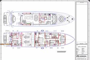 97' Horizon 97 Motoryacht With Raised Pilothouse And Skylounge 2011 General Arrangement Schematic