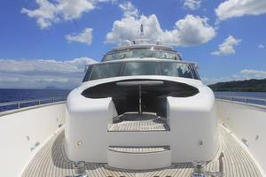 97' Horizon 97 Motoryacht with Raised Pilothouse and Skylounge 2011 Bow Seating Area
