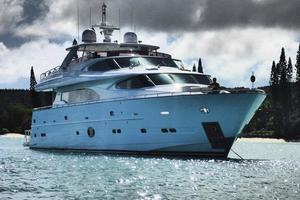 97' Horizon 97 Motoryacht with Raised Pilothouse and Skylounge 2011 Port View