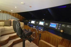 97' Horizon 97 Motoryacht with Raised Pilothouse and Skylounge 2011 Pilothouse Helm Console