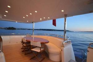 97' Horizon 97 Motoryacht with Raised Pilothouse and Skylounge 2011 Aft Deck