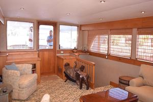 75' Burger Raised Pilothouse 1958 Main Salon to Aft Deck