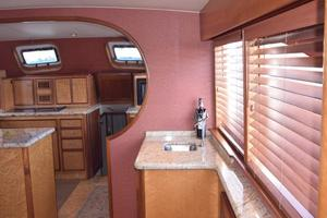 75' Burger Raised Pilothouse 1958 Galley Entry View from Wheelhouse