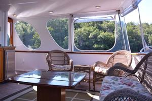 75' Burger Raised Pilothouse 1958 Aft Deck View Port to Starboard