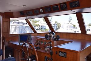 75' Burger Raised Pilothouse 1958 Wheelhouse View to Bow